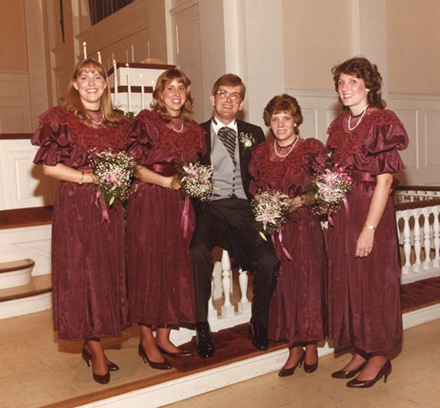 Vintage Wedding Dresses 80s: Ugly Vintage Bridesmaids Dresses From The 70s & 80s