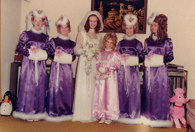 b66fa2eb4c6 Or at least that s what it looks like from these pictures of brides with  their bridesmaids from the 1970s to 1980s