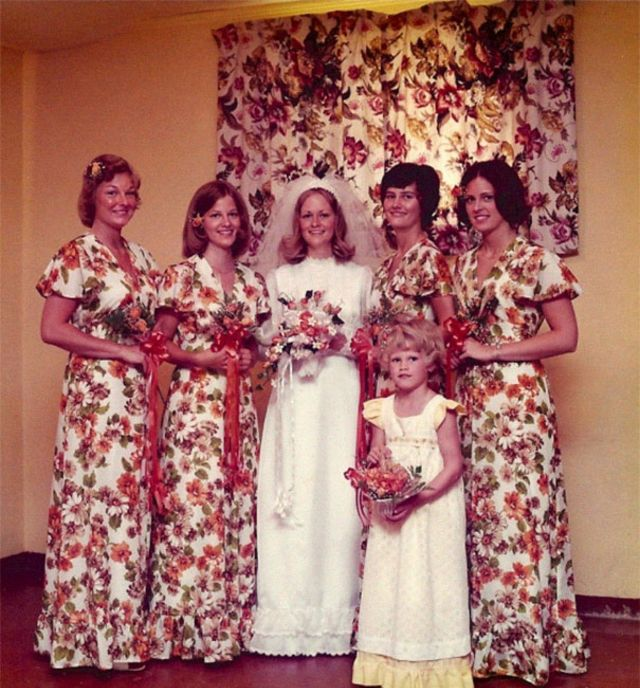 Ugly Vintage Bridesmaids Dresses From