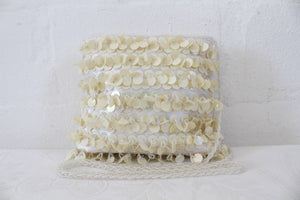 VINTAGE SEQUIN BEADED WHITE SMALL EVENING SLING BAG HANDBAG PURSE