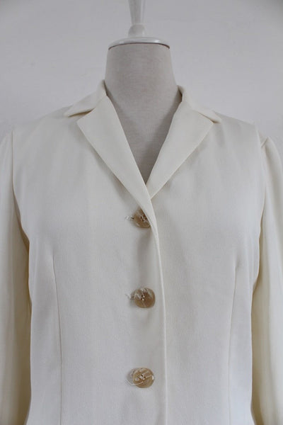 LIZ CLAIBORNE COLLECTION CREAM JACKET - SIZE 10