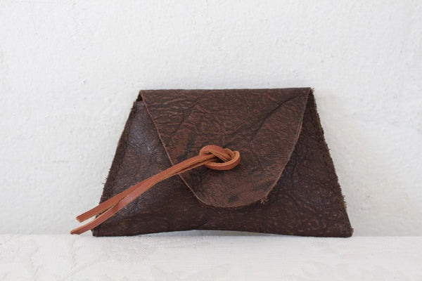 GENUINE LEATHER HAND MADE BROWN MINI COIN PURSE
