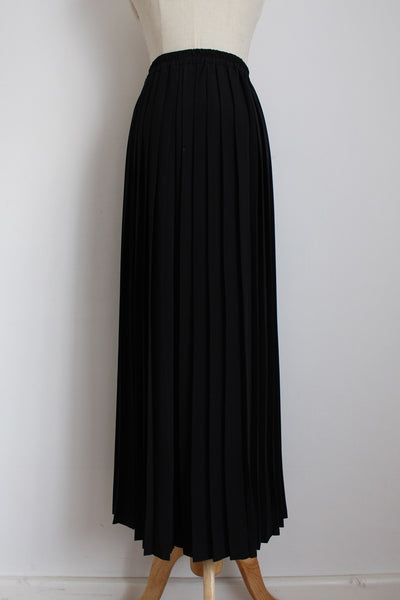 VINTAGE BLACK PLEATED WIDE LEG PALAZZO PANTS - SIZE 16