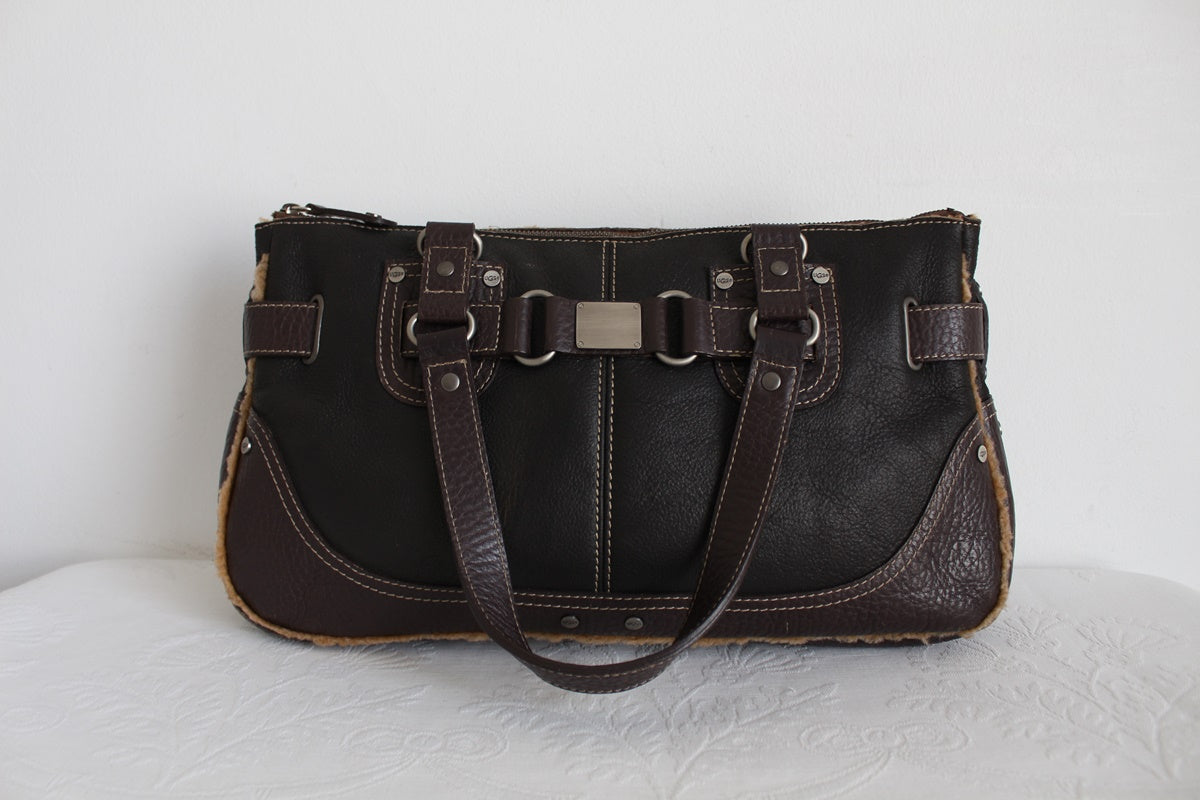 UGG GENUINE LEATHER SHEEPSKIN HANDBAG