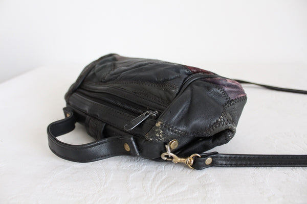 VINTAGE PATCH GENUINE LEATHER MINI SLING
