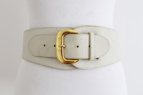*KOOKAI* DESIGNER GENUINE LEATHER BEIGE BELT