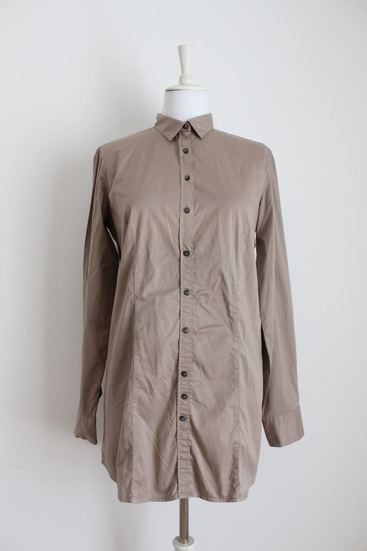 *ROBERT FRIEDMAN* DESIGNER BROWN SHIRT - SIZE 14