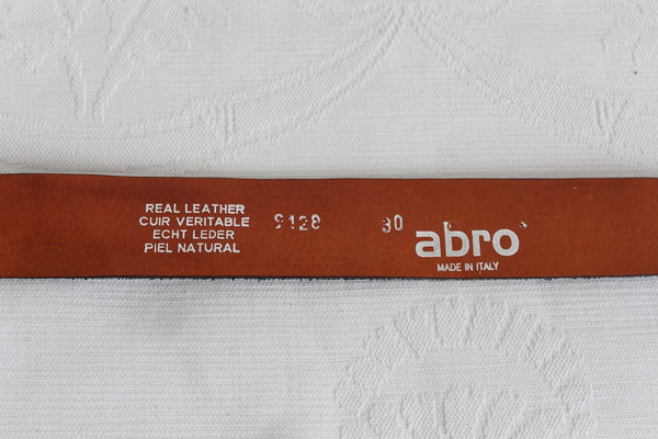 ABRO GENUINE LEATHER SUEDE DIAMANTE BELT - ITALY
