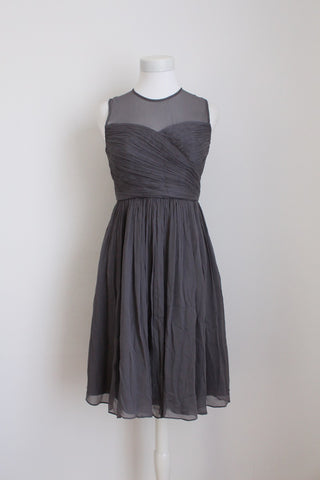 J. CREW DESIGNER 100% SILK RUCHED DRESS - SIZE 6