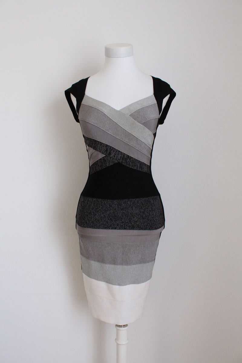 ERROL ARENDZ DUSUD DESIGNER KNIT BANDAGE DRESS - SIZE XS