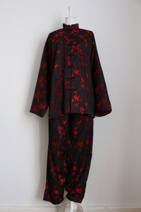 100% SILK CHINESE VINTAGE TWO PIECE - SIZE 14