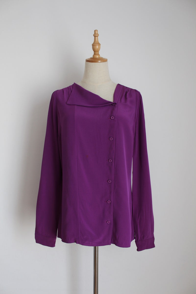 REISS DESIGNER PURPLE BLOUSE - SIZE 10