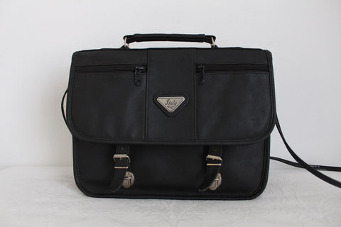 VINTAGE BLACK BRIEFCASE SATCHEL BAG