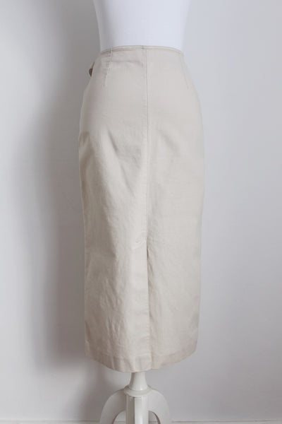 ALAIN MANOUKIAN DESIGNER COTTON PENCIL SKIRT - SIZE 8