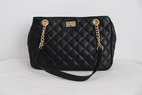NEW WOOLWORTHS BLACK QUILTED HANDBAG