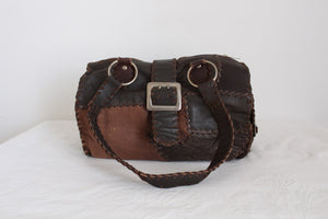 VINTAGE GENUINE LEATHER PATCH HAND MADE BAG