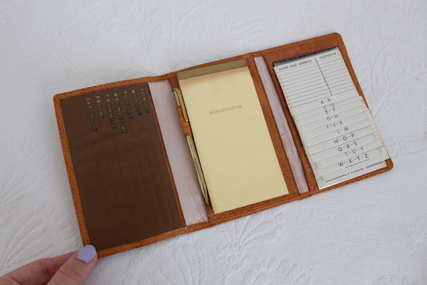 VINTAGE GENUINE PIGSKIN ADDRESS NOTE BOOK