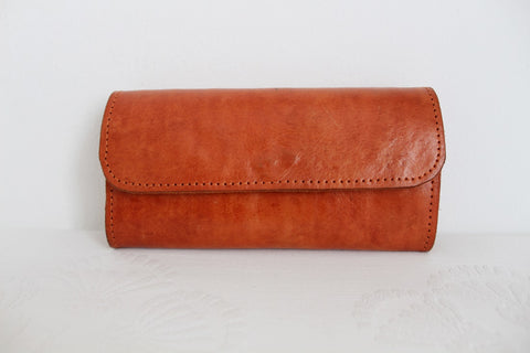 VINTAGE GENUINE LEATHER TAN WALLET PURSE