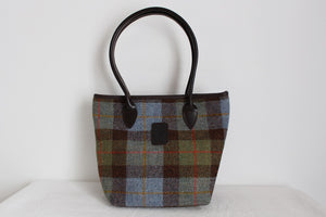 GLENALMOND HARRIS TWEED SCOTTISH LEATHER HANDBAG