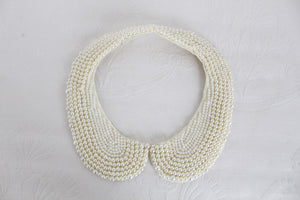 VINTAGE FAUX PEARL BEADED COLLAR