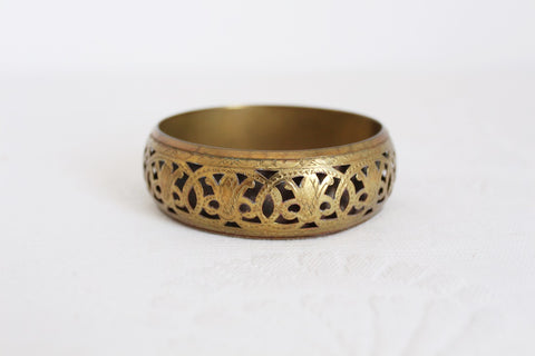 VINTAGE BRASS CUT-OUT BANGLE