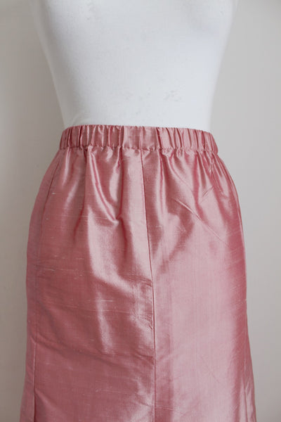 VINTAGE SILK PINK MERMAID SKIRT - SIZE 12