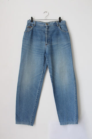 VINTAGE STRINGBEANS DENIM HIGH WAIST MOM JEANS - SIZE 14
