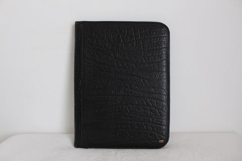 *GENUINE BUFFALO SKIN* VINTAGE BLACK A4 DOCUMENT HOLDER