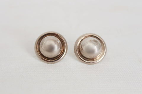 STERLING SILVER VINTAGE CHUNKY STUD EARRINGS