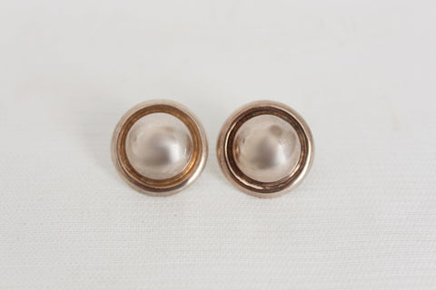 STERLING SILVER VINTAGE CHUNKY STUD EARRINGS SET