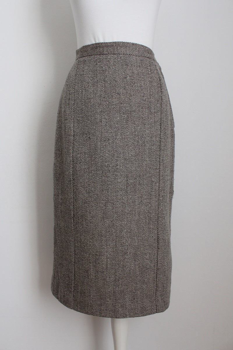 CARDUCCI VINTAGE TWEED WOOL PENCIL SKIRT - SIZE 6