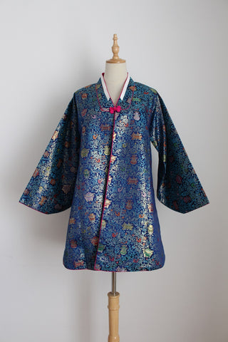 VINTAGE CHINESE SILK BROCADE JACKET - SIZE S/M