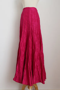 HABITS HOT PINK TAFETTA MAXI SKIRT - SIZE 6