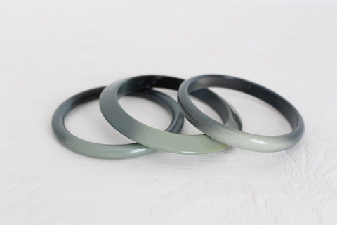 SET OF 3 VINTAGE PLASTIC BANGLES