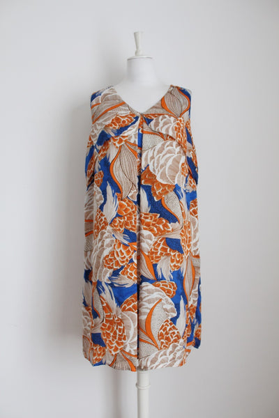 G COUTURE PRINTED SHIFT DRESS - SIZE 16