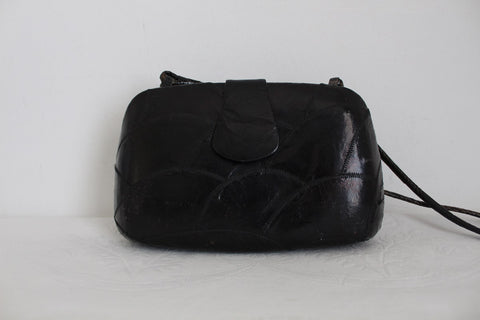 GENUINE TURTLE SKIN VINTAGE BLACK SLING BAG