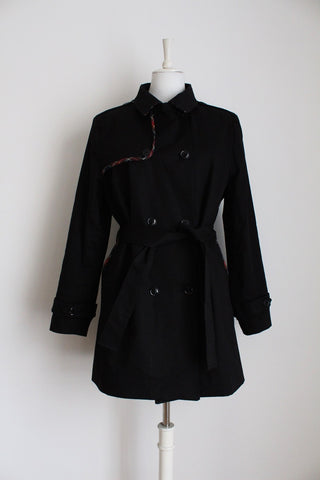 PRINGLE OF SCOTLAND DESIGNER TRENCH COAT - SIZE 16