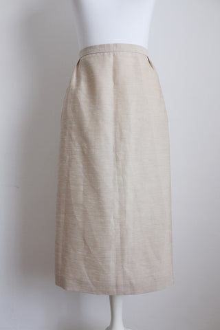 VINTAGE STONE TEXTURED PENCIL SKIRT - SIZE 8