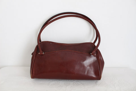 BUSBY GENUINE LEATHER OXBLOOD SHOULDER BAG