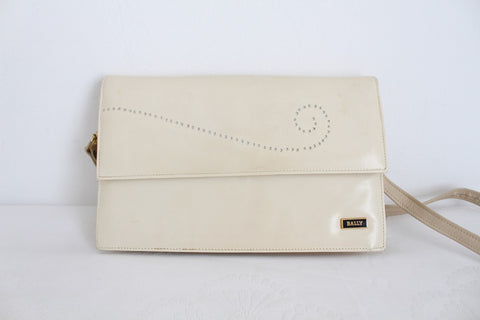 BALLY DESIGNER VINTAGE CREAM BAG