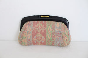 VINTAGE TAPESTRY PASTEL CLUTCH PURSE