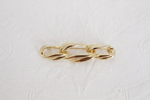 VINTAGE GOLD TONE CHAIN LINK BROOCH