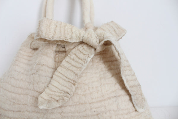 *HUT UP BERLIN* DESIGNER MERINO WOOL SILK KNIT BAG