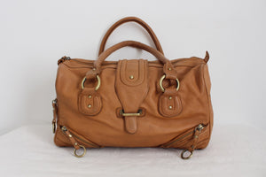 *FAITH* GENUINE LEATHER DESIGNER BARREL HANDBAG
