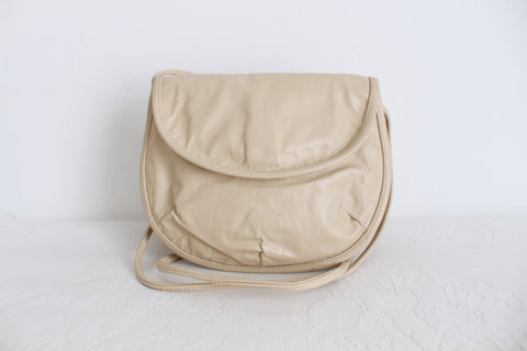 GENUINE LEATHER VINTAGE CREAM MINI SLING BAG
