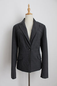 BAY GREY WOOL BLEND BLAZER - SIZE 12