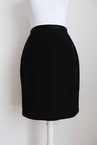 DANIEL HECHTER BLACK FITTED PENCIL SKIRT - SIZE 8