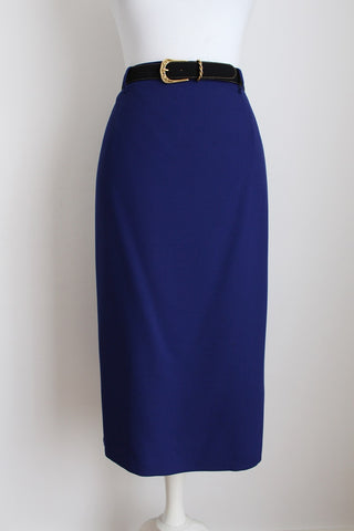 ARA VINTAGE WOOL BLUE PENCIL SKIRT - SIZE 14