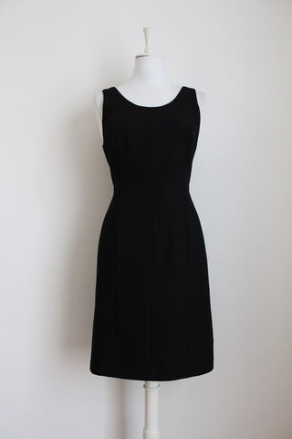 VINTAGE SCOOP BACK LITTLE BLACK DRESS - SIZE 12