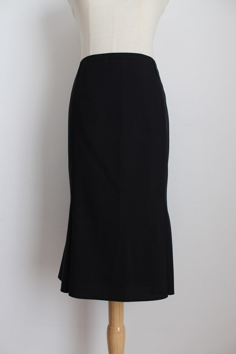 WINDSOR WOOL FLARED PENCIL SKIRT - SIZE 10